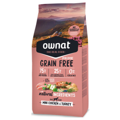 OWNAT GRAIN FREE PRIME MINI CHICKEN & TURKEY (DOG) 3KG