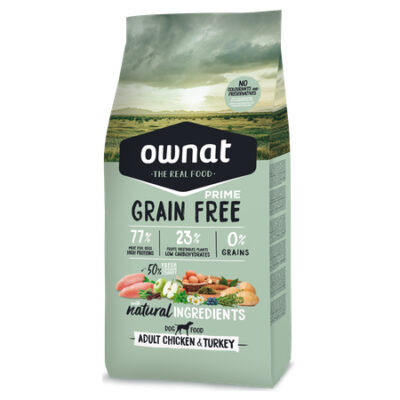 OWNAT GRAIN FREE PRIME ADULT CHICKEN & TURKEY (DOG) 14KG