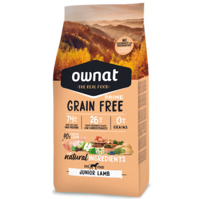 OWNAT GRAIN FREE PRIME JUNIOR LAMB DOG