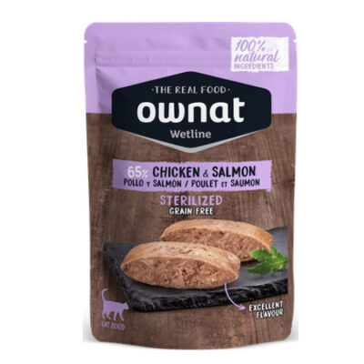 OWNAT WETLINE STERILIZED CHICKEN & SALMON (CAT)