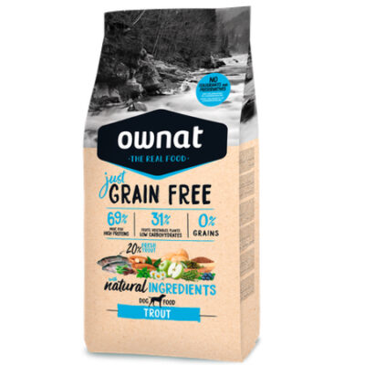 OWNAT JUST GRAIN FREE ADULT TROUT DOG