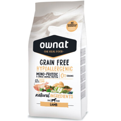 OWNAT GRAIN FREE HYPO LAMB (DOG) 14KG