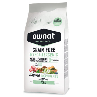 OWNAT GRAIN FREE HYPO PORK (DOG) 14KG