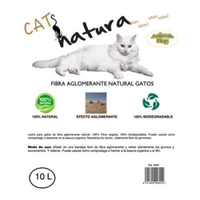 CATS NATURA FIBRA AGLOMERANTE NATURAL 10LT.