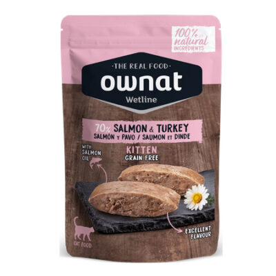OWNAT WETLINE KITTEN SALMON & TURKEY (CAT) 85G
