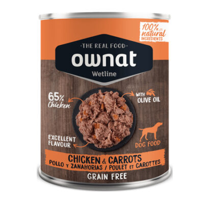OWNAT WETLINE CHICKEN WITH CARROTS (DOG) 400G