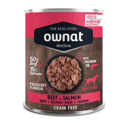 OWNAT WETLINE BEEF AND SALMON (DOG) 400G