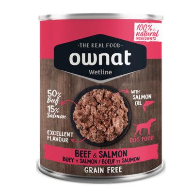 OWNAT WETLINE BEEF AND SALMON (DOG) 400G