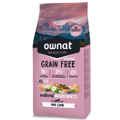 OWNAT GRAIN FREE PRIME MINI ADULT LAMB DOG