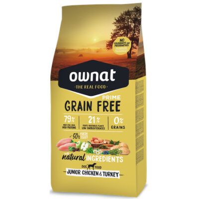 OWNAT GRAIN FREE PRIME JUNIOR CHICKEN & TURKEY DOG