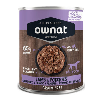 OWNAT WETLINE LAMB WITH POTATOES (DOG) 400G