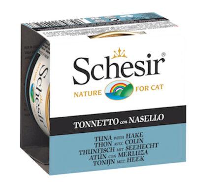 SCHESIR CAT ATUN CON MERLUZA EN GELATINA 85GR.