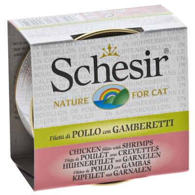 SCHESIR CAT POLLO GAMBA CALDO 70GR.