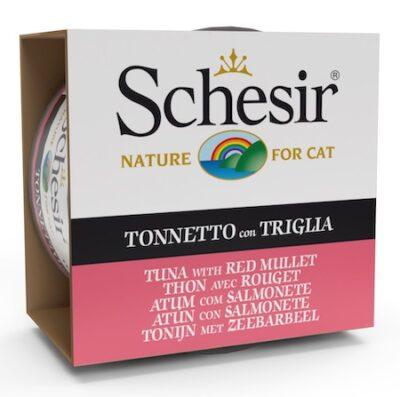 SCHESIR CAT ATUN CON SALMONETE 85GR.